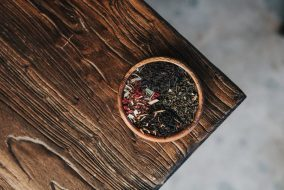 herb on wood